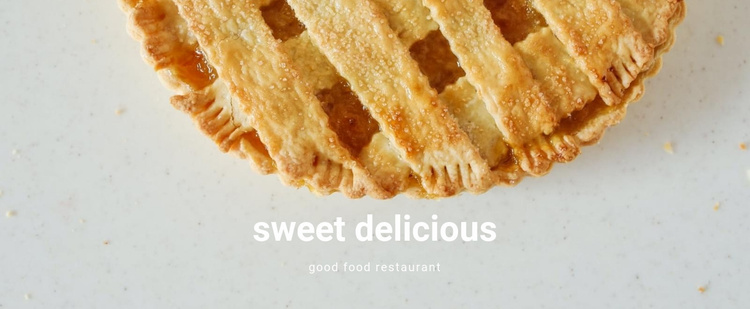 Sweet delicious food Website Template