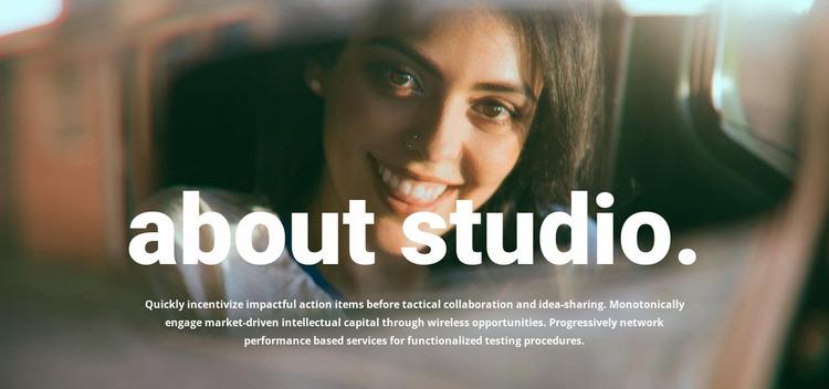 About our photo studio WordPress Website Builder