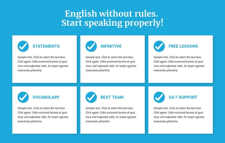 English classes without rules CSS Template
