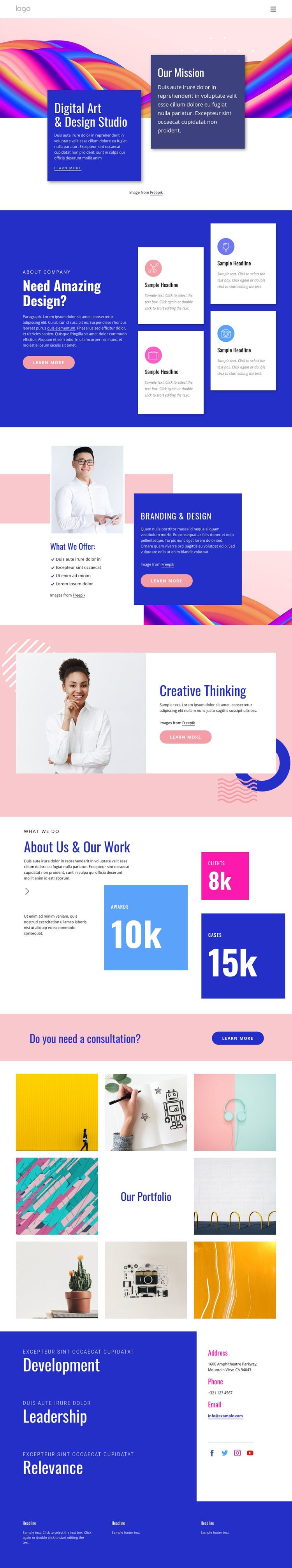 Create content that connects HTML Template