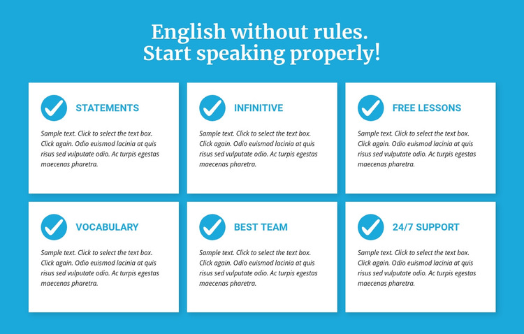 English classes without rules HTML5 Template