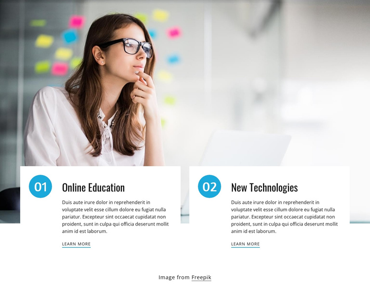 Online courses for students One Page Template