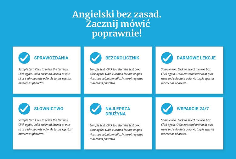 Zajęcia z języka angielskiego bez zasad Szablon witryny sieci Web