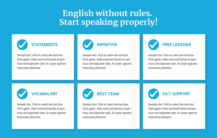 English classes without rules Template