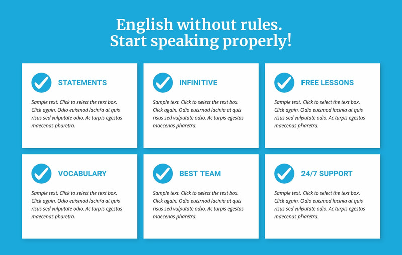 English classes without rules Web Page Design