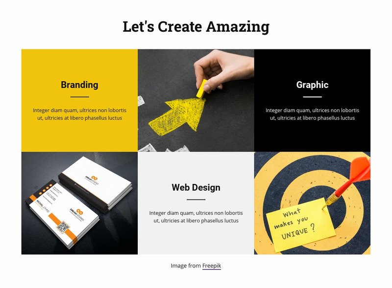 Grow business with us Web Page Design