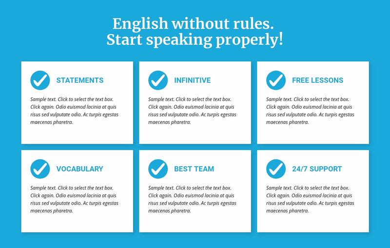 English classes without rules Web Page Designer