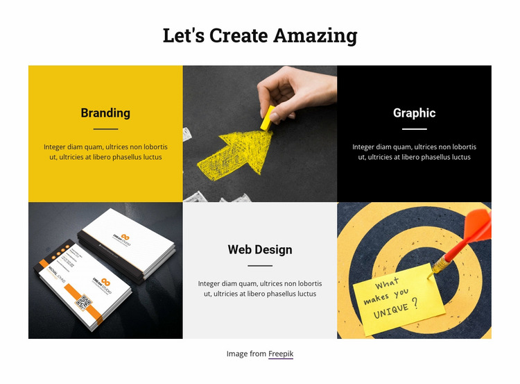 Grow business with us Website Mockup