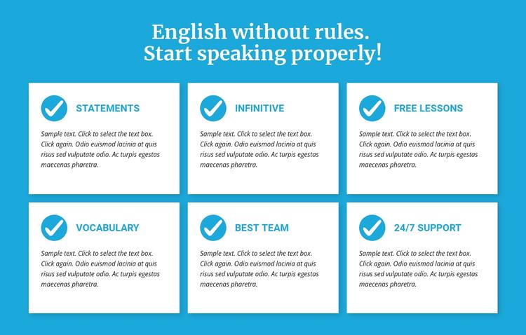English classes without rules WordPress Theme