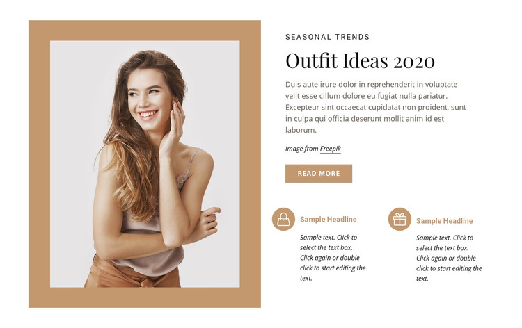 Fashion and beauty model Homepage Design