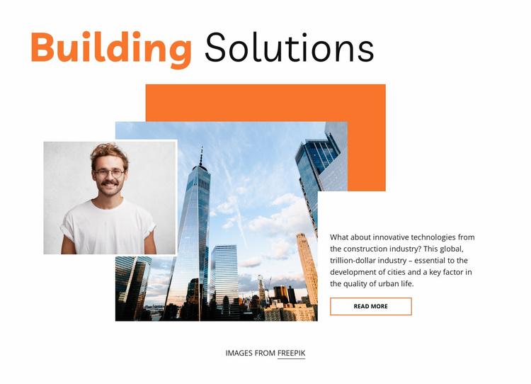 Best building solutions Website Template