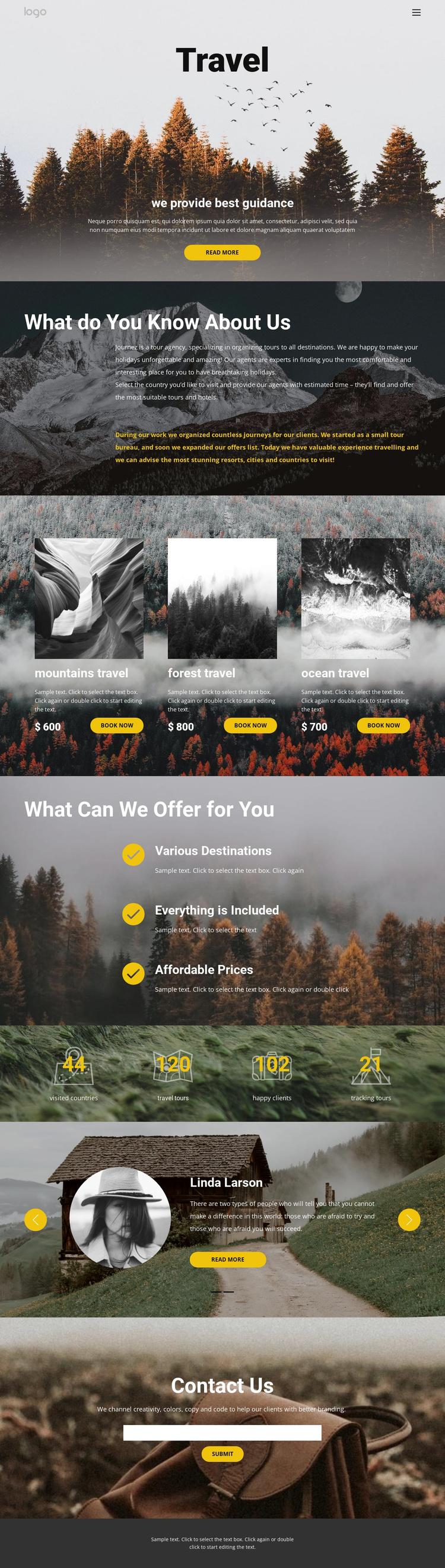 Wild solo travel Joomla Template
