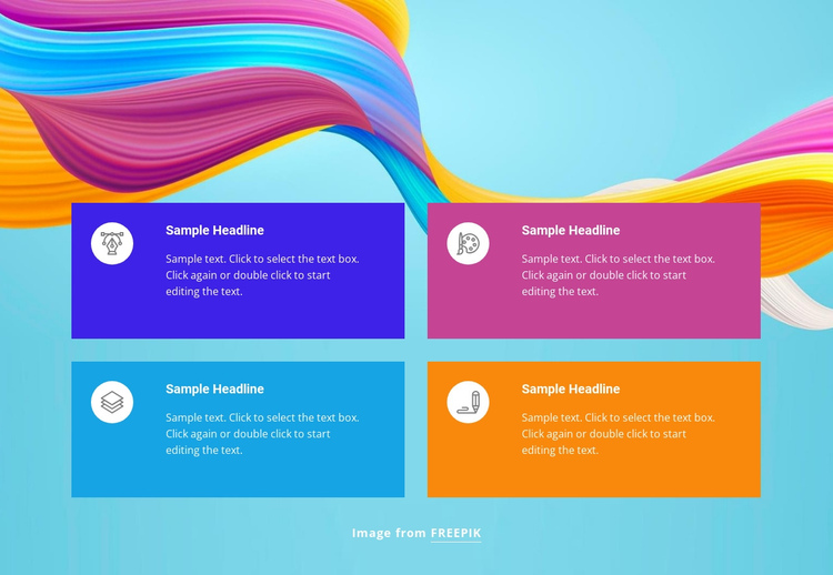 Professional design studio One Page Template