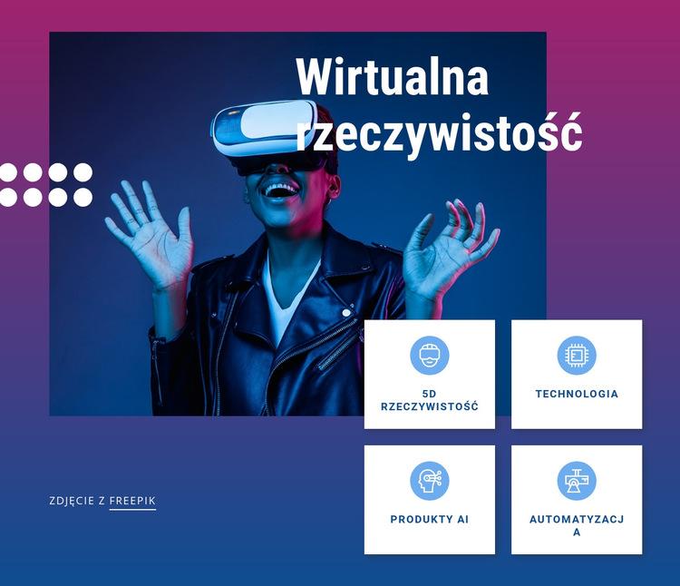 Przyszłe technologie biznesowe Szablon witryny sieci Web