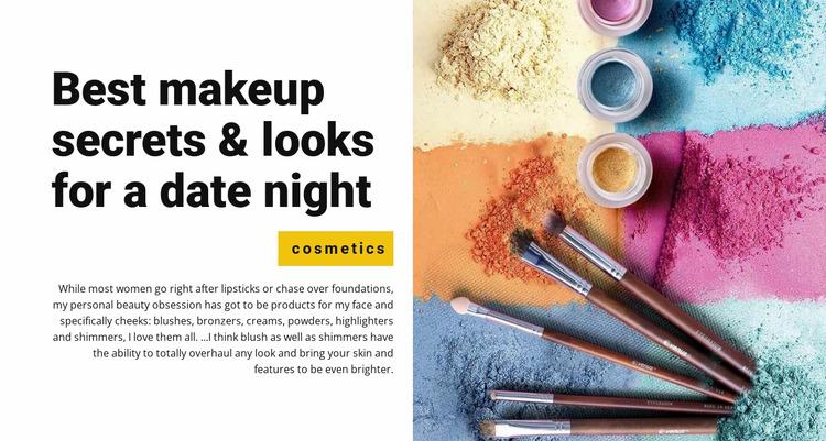Best makeup secrets Html Website Builder
