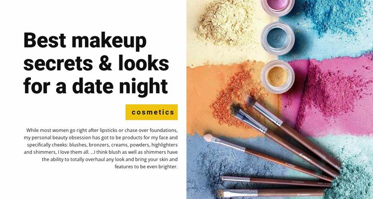 Best makeup secrets Website Template