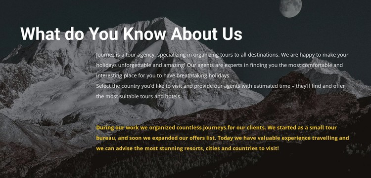 About our travel agency WordPress Template