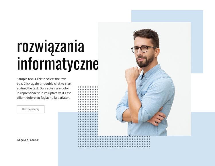 Usługi biznesowe IT Szablon witryny sieci Web
