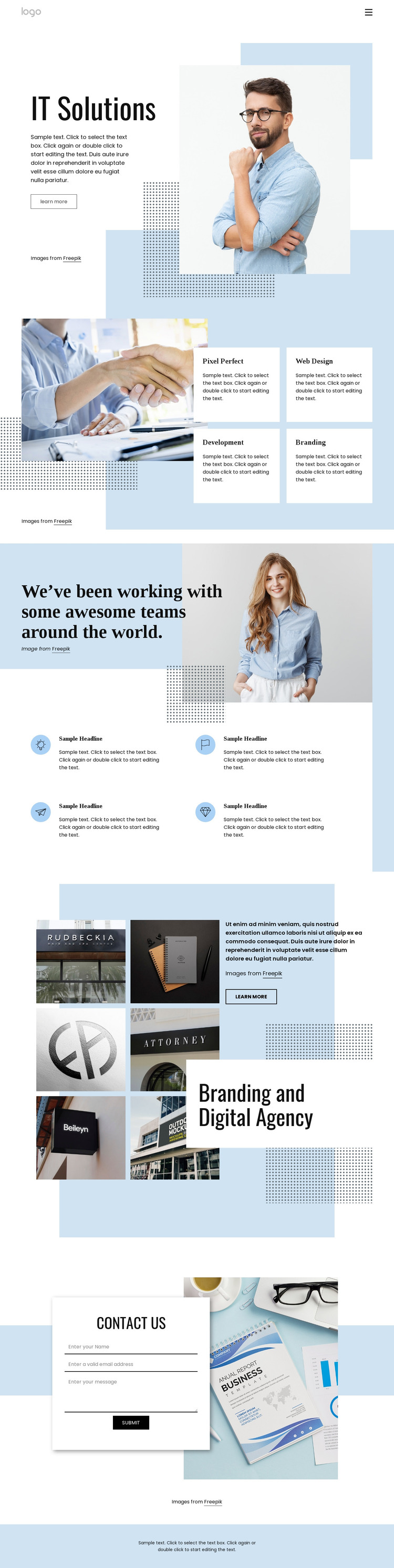 IT software service agency HTML Template