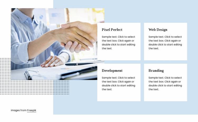 Digital agency services Website Mockup