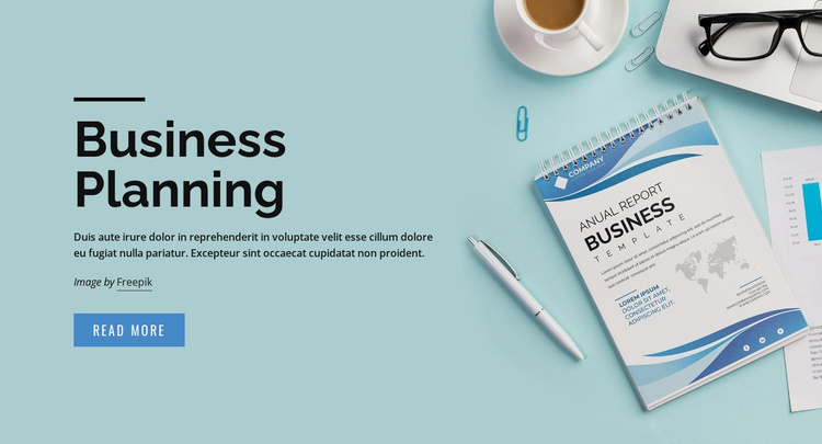 Business plan solutions Website Template