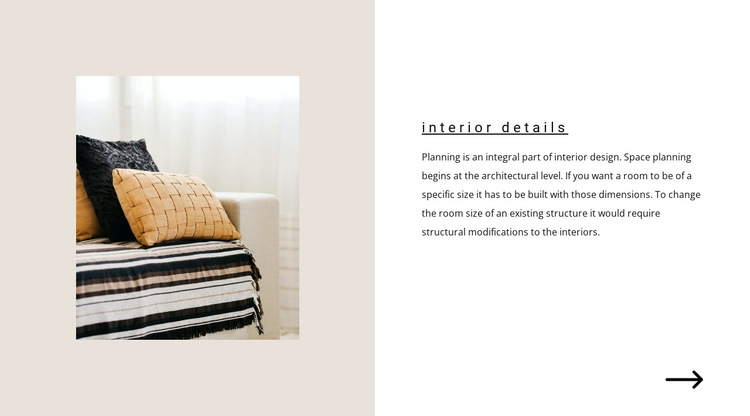 How to decorate the interior HTML5 Template