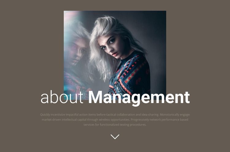 About our management  HTML5 Template