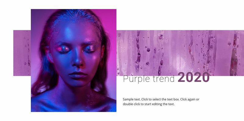 Bright colors are back Web Page Design