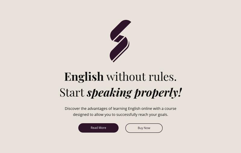 English education no rules Web Page Design