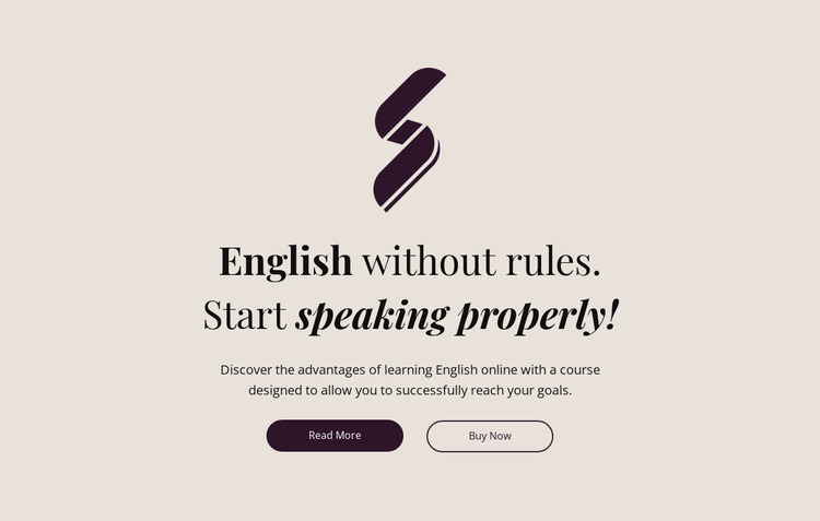 English education no rules Website Mockup