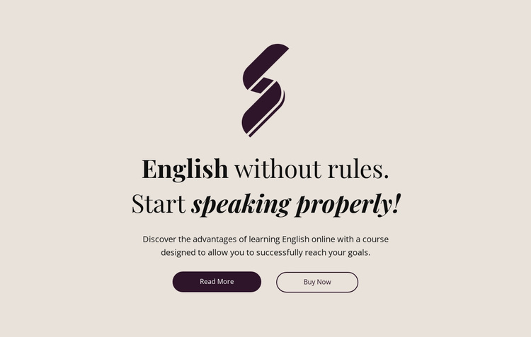 English education no rules Website Template