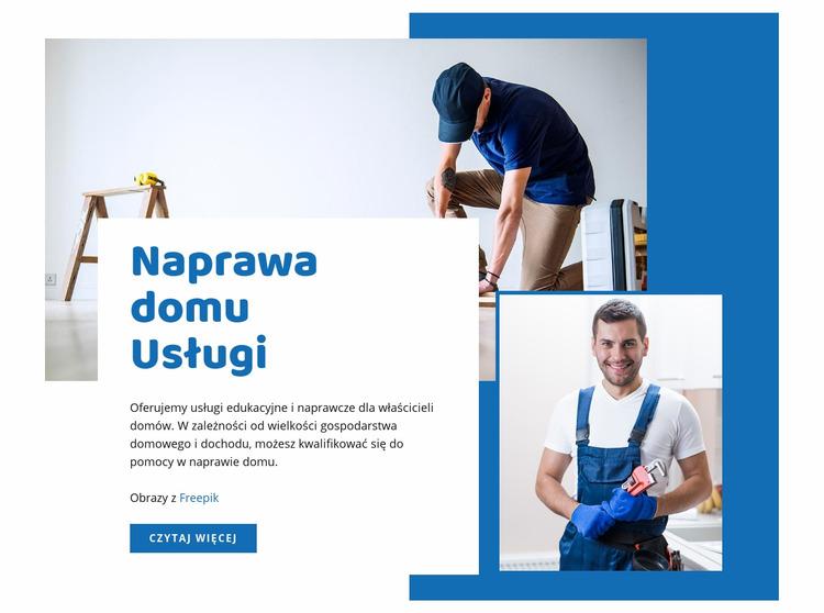Usługi remontowe domów Szablon Joomla