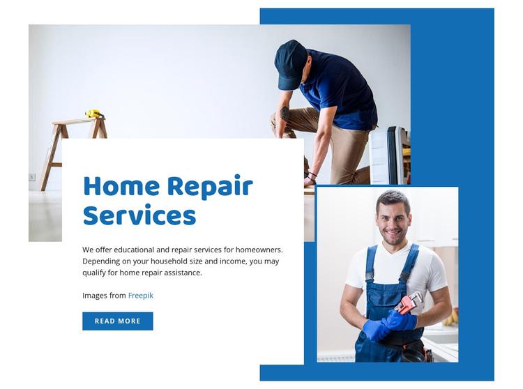 Home renovation services Website Builder Software
