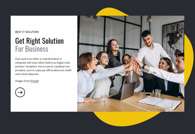 IT solutions for business Website Mockup