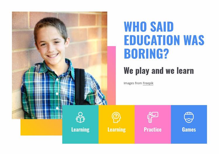 Elementary school services Website Mockup