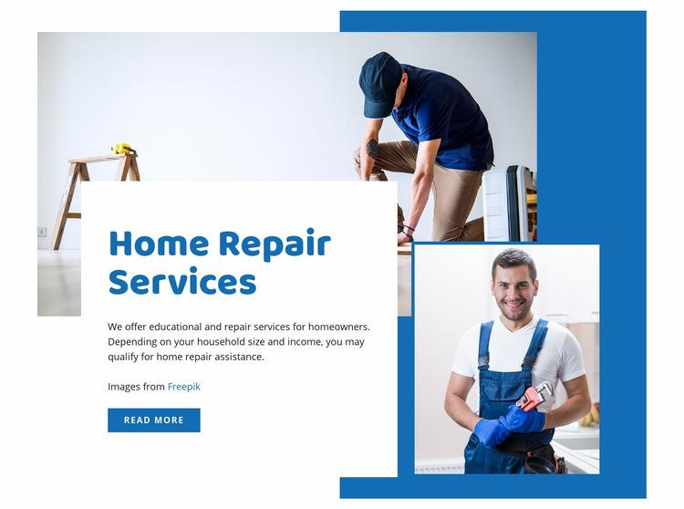 Home renovation services WordPress Website