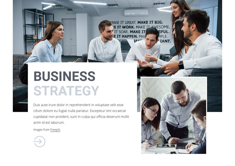 Business consulting team Homepage Design