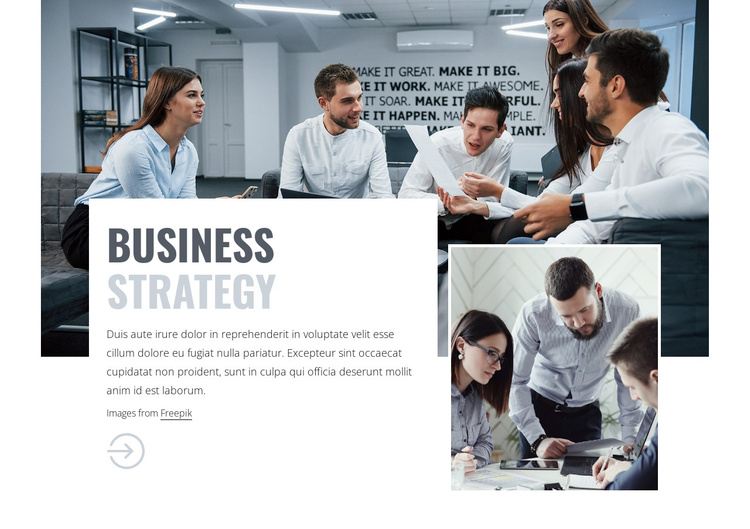 Business consulting team Joomla Template