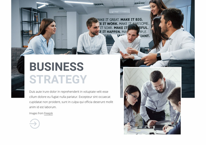 Business consulting team Web Page Design