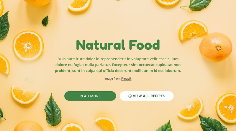 Natural healthy food Web Page Design