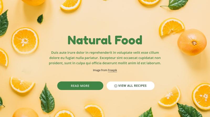 Natural healthy food Website Creator