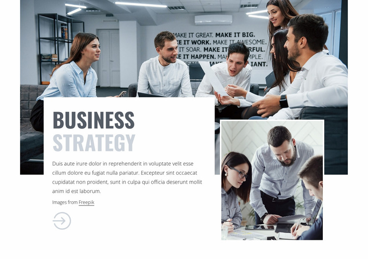 Business consulting team Website Mockup