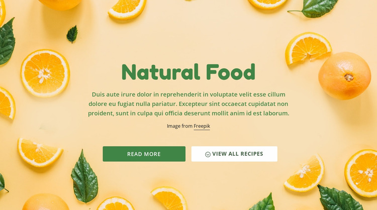 Natural healthy food WordPress Website Builder