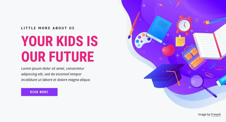 Future education kids Website Mockup