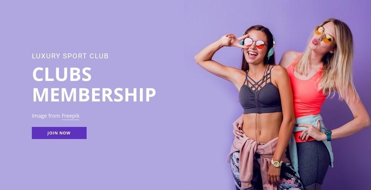 Sport membership club CSS Template
