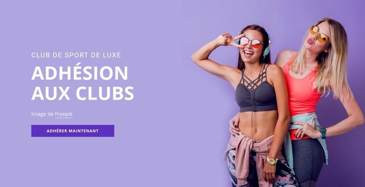 Club des membres du sport Modèle de site Web