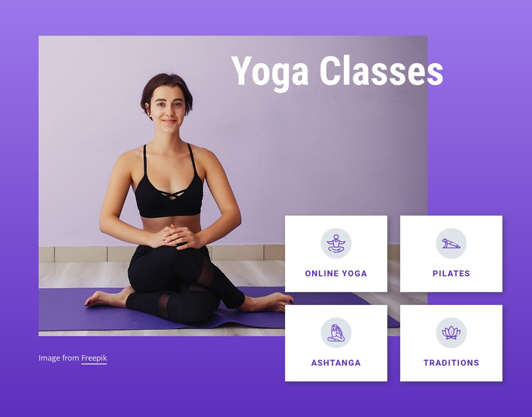 Yoga and pilates classes HTML5 Template