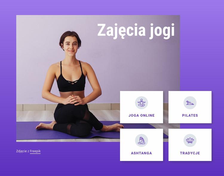 Zajęcia z jogi i pilatesu Szablon Joomla