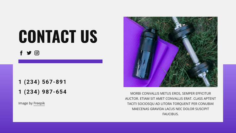 Contact us today Template