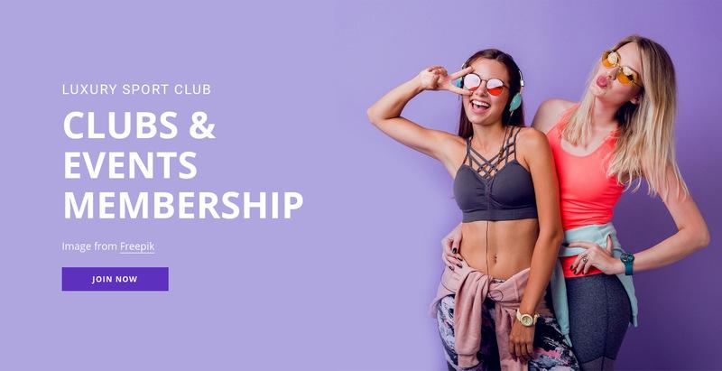 Sport membership club Web Page Designer